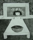 Little Girl Lost iii (2006) etching on paper - Pui Lee