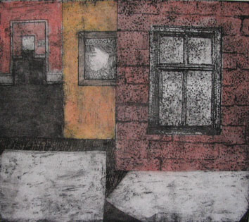 Untitled (interiors) (2007) multi plate colour etching on paper - Pui Lee