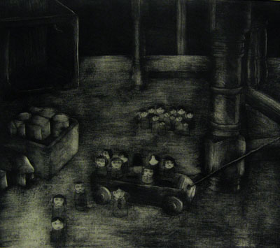 Still Lives series: Clearance (2011) - etching on paper - Pui Lee