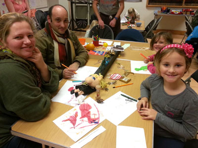 Lots of families took part in the Big Draw! event